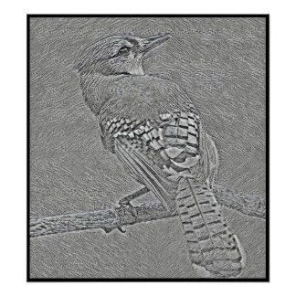 Stylized Blue Jay Series - Number 39 Poster
