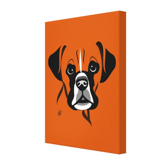 Stylized Boxer Dog Canvas Prints