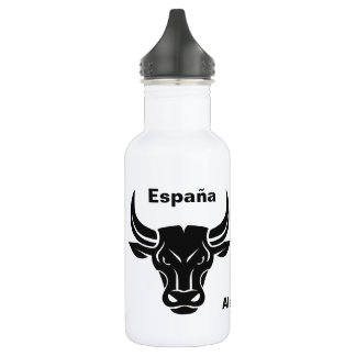 Stylized Bull custom name & text water bottles