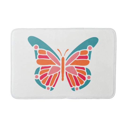 Stylized Butterfly bath mats
