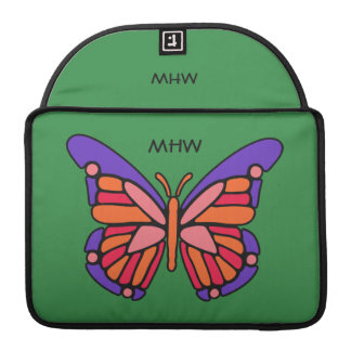 Stylized Butterfly custom monogram MacBook sleeves Sleeves For MacBook Pro