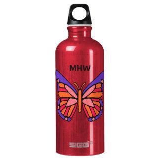 Stylized Butterfly custom monogram travel bottle