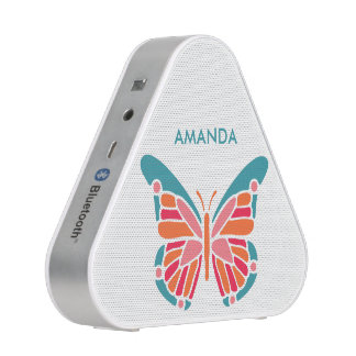 Stylized Butterfly custom name bluetooth speaker