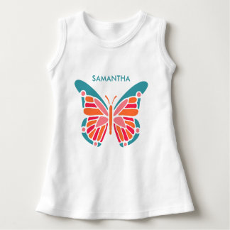 Stylized Butterfly custom name clothing Dress