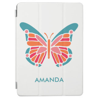 Stylized Butterfly custom name device covers iPad Air Cover