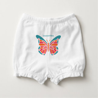 Stylized Butterfly custom name diaper bloomers Diaper Cover