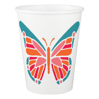 Stylized Butterfly custom text paper cups Paper Cup