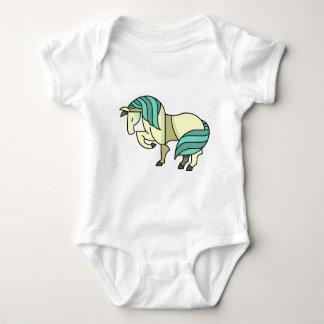 Stylized Cartoon Horse Baby Bodysuit
