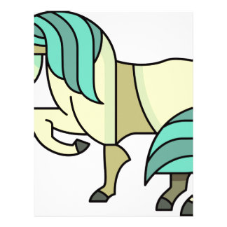 Stylized Cartoon Horse Letterhead