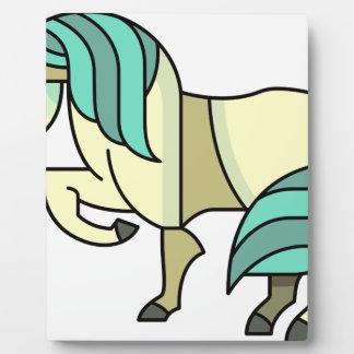 Stylized Cartoon Horse Plaque