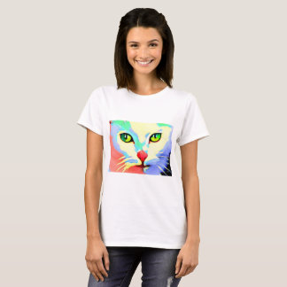 Stylized cat face painting T-Shirt