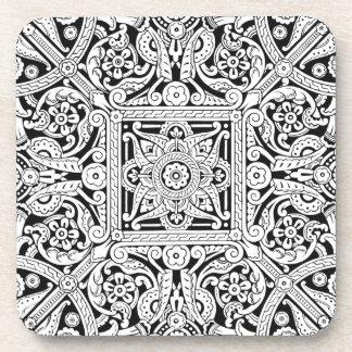 Stylized ceiling panel design, 1870 coaster