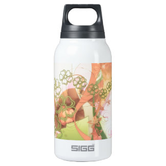Stylized Cherry Blossoms Insulated Water Bottle