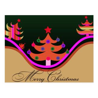 Stylized Christmas Card Postcard