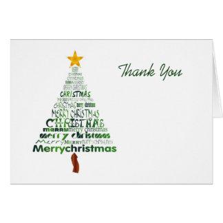 Stylized Christmas Tree Thank You Card