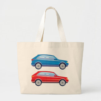 Stylized Crossover SUV vector art Large Tote Bag