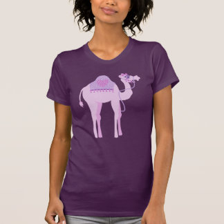 Stylized cute graphic one humped camel t-shirt