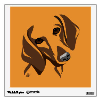 Stylized Dachshund Wall Decals