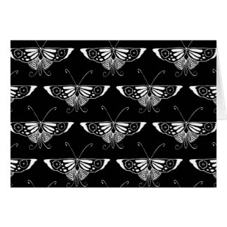 Stylized Deco butterfly  - black and white Card