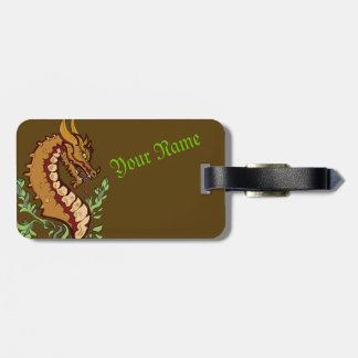 Stylized Dragon Luggage Tag