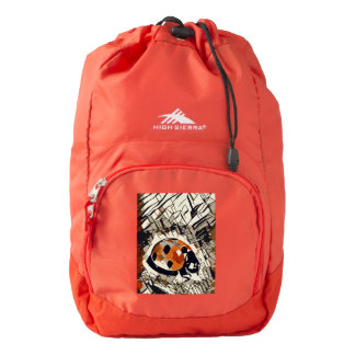 StylizeddrawingofaRedLadybug Backpack