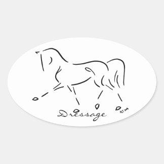 Stylized Dressage Sticker