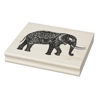 Stylized Fantasy Elephant Doodle Rubber Stamp
