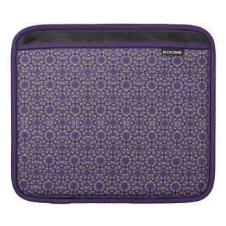 Stylized Floral Check iPad Sleeves