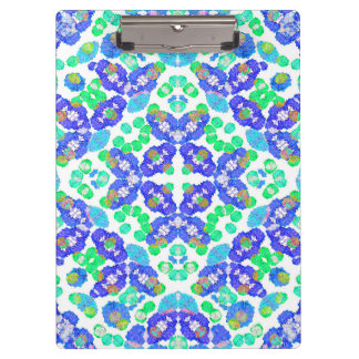 Stylized Floral Check Seamless Pattern Clipboard