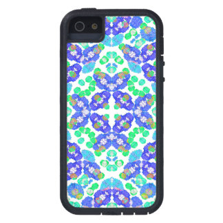 Stylized Floral Check Seamless Pattern iPhone 5 Cover