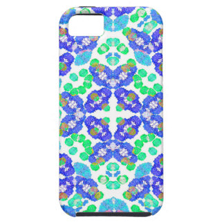 Stylized Floral Check Seamless Pattern iPhone 5 Covers