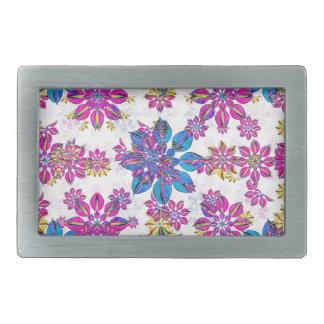 Stylized Floral Ornate Pattern Belt Buckles