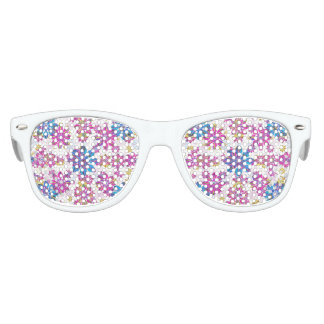 Stylized Floral Ornate Pattern Kids Sunglasses