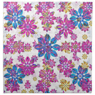 Stylized Floral Ornate Pattern Napkin
