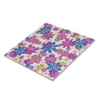 Stylized Floral Ornate Pattern Tile