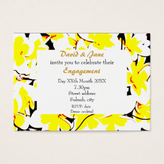 stylized flower bouquet invite