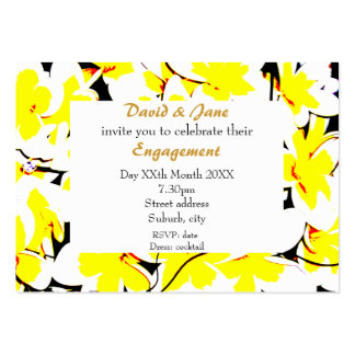stylized flower bouquet invite business card