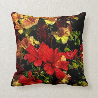 Stylized Flowers Cute Throw Pillow