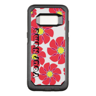 Stylized Flowers OtterBox Commuter Samsung Galaxy S8 Case