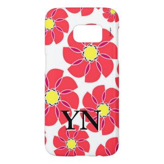 Stylized Flowers Samsung Galaxy S7 Case