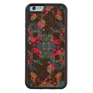 Stylized Geometric Floral Ornate Cherry iPhone 6 Bumper