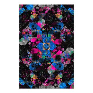 Stylized Geometric Floral Ornate Stationery Paper