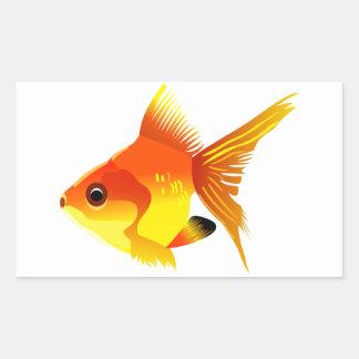 Stylized Goldfish Sticker