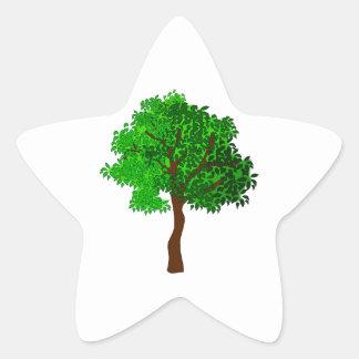 Stylized Green Leafy Tree Stickers