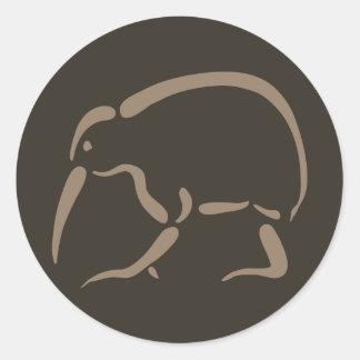 Stylized Kiwi Classic Round Sticker