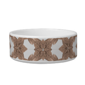 Stylized Leaves Floral Collage Bowl