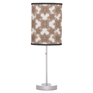 Stylized Leaves Floral Collage Table Lamp