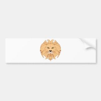 Stylized Lion Head Bumper Sticker