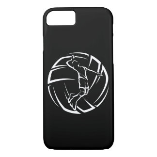Stylized Male Volleyball Player with Ball iPhone 7 Case