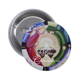 "Stylized Merry Christmas 2 1/4"" Button"
